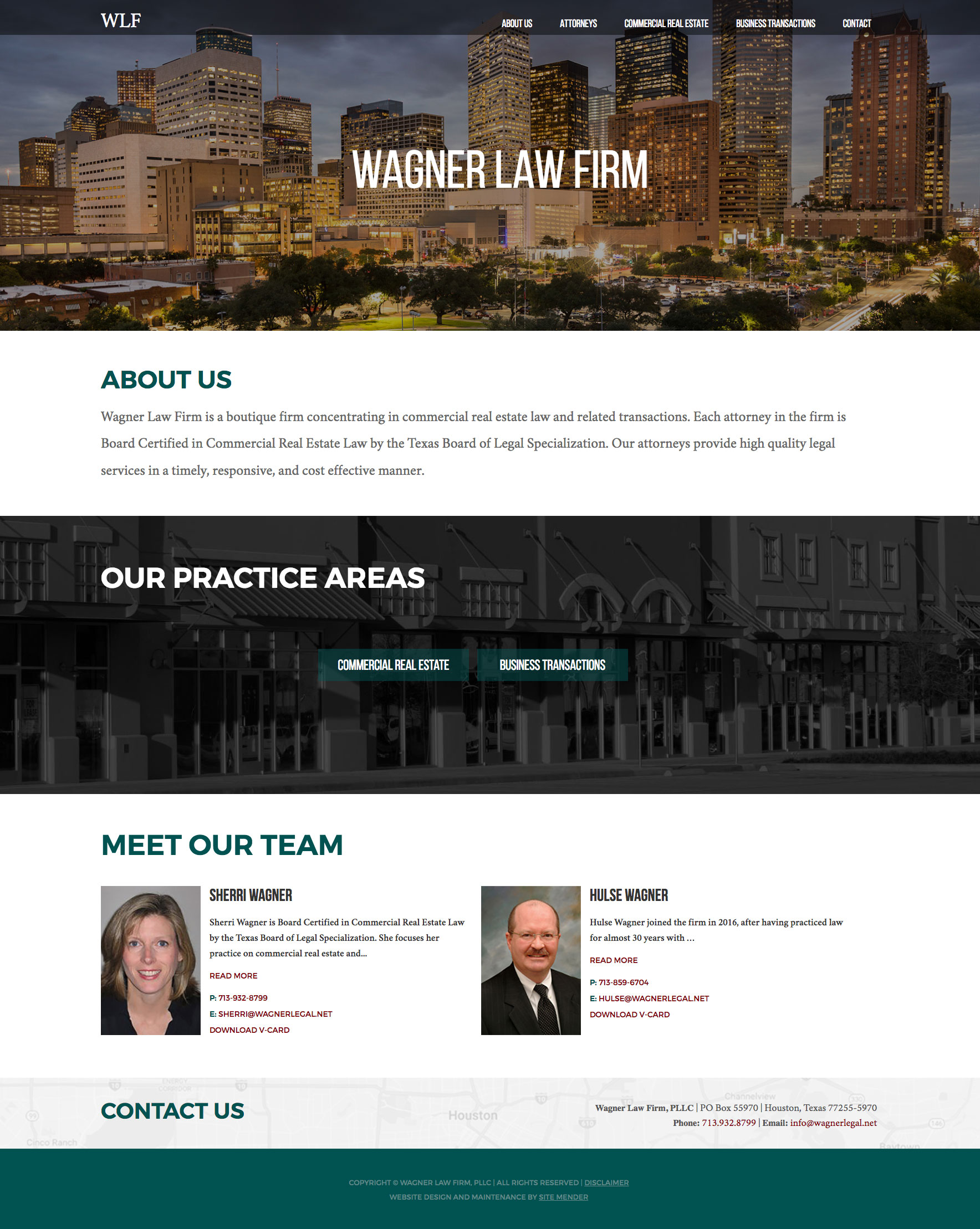 The new law firm website design for Wagner Legal.